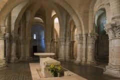 Crypte dans l'église dans des Frances de Saintes Photos stock