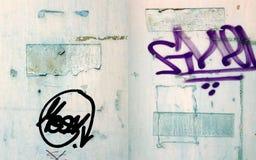 Cryptic Graffiti on Wall Royalty Free Stock Photos