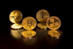 Crypto κυματισμός ethereum curencies bitcoin litecoin στοκ εικόνα με δικαίωμα ελεύθερης χρήσης