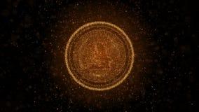 Crypto νόμισμα Litecoin των φωτεινών μορίων Ανασκόπηση τρισδιάστατη ελεύθερη απεικόνιση δικαιώματος
