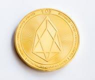 Crypto ψηφιακό χρυσό νόμισμα νομίσματος - eos μπροστινή πλευρά στοκ εικόνες
