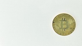Crypto Bitcoin ηλεκτρονική κινηματογράφηση σε πρώτο πλάνο εικόνας χρημάτων νομίσματος στοκ εικόνες