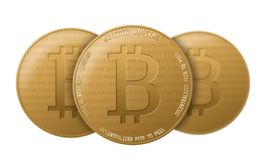Crypto Bitcoin νόμισμα Στοκ Φωτογραφία