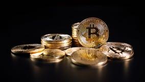 Crypto Bitcoin νόμισμα Στοκ φωτογραφία με δικαίωμα ελεύθερης χρήσης