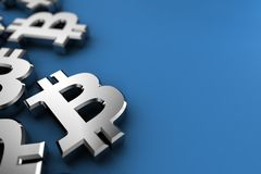Crypto Bitcoin σύμβολο νομίσματος Στοκ φωτογραφία με δικαίωμα ελεύθερης χρήσης