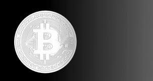 Crypto Bitcoin blockchain ψηφιακό δίκτυο κρυπτογράφησης νομίσματος για τα παγκόσμια χρήματα, άλφα κανάλι απόθεμα βίντεο