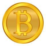 Crypto coin bitcoin icon on white. Stock Photography