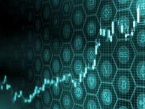 Crypto concept à la hausse d'achat de marché de changes La double exposition des pièces de monnaie numériques évaluent le diagram illustration stock