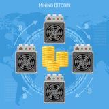 Crypto concept de extraction de bitcoin de devise Image libre de droits