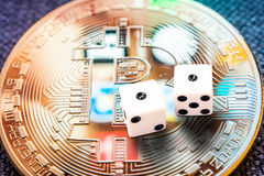 Crypto currencies especially bitcoin investment risk royalty free stock photography