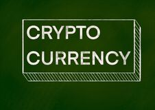 Crypto currency background concept vector illustration