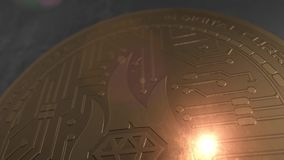 Crypto currency Billionaire Coin 3d Rendering blockchain. 3D rendering of a Billionaire coin in 4 different camera angles royalty free illustration