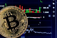 Crypto currency Bitcoin stock photos
