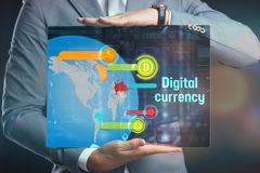 Crypto-currency,  Bitcoin internet virtual money. Currency Techn Royalty Free Stock Photography