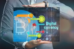 Crypto-currency,  Bitcoin internet virtual money. Currency Techn Stock Photo