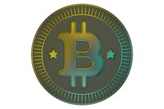 Crypto currency bitcoin stock illustration