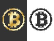 Crypto currency bitcoin symbols Royalty Free Stock Images