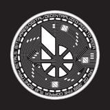 Crypto currency bitshares black and white symbol Stock Photos