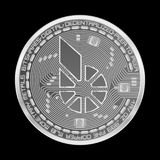 Crypto currency bitshares silver symbol Stock Photography