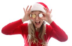 A crypto currency Christmas Royalty Free Stock Photo