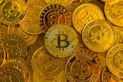 Crypto currency concept.Bitcoins ,Gold Coins ,Cryptocurrency wit. New crypto currency concept.Bitcoins ,Gold Coins ,Cryptocurrency with space for your Concept stock photos