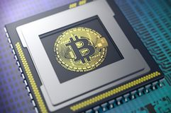 Crypto currency concept Stock Images