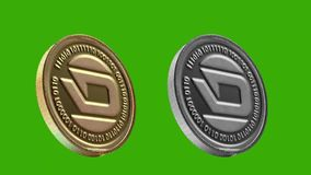 Cryptocurrency coins, DASH royalty free illustration