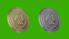 Cryptocurrency coins, iota stock illustration