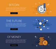 Crypto currency futuristic banner Stock Photo