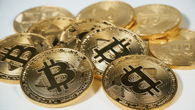 Crypto currency Gold Bitcoins - BTC - Bit Coin. Macro shots crypto currency Bitcoin coins. Cryptocurrency Gold Bitcoin - BTC - Bit Coin. Macro shots crypto royalty free stock photo