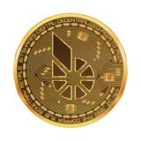 Crypto currency bitshares golden symbol Royalty Free Stock Photos