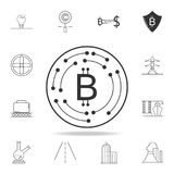 Crypto-currency icon. Detailed set of web icons and signs. Premium graphic design. One of the collection icons for websites, web d. Esign, mobile app on white Stock Image