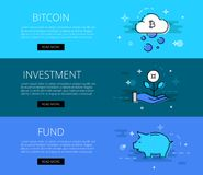 Crypto currency investment banner Stock Photos