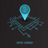 Crypto currency monetary financial vector Royalty Free Stock Image