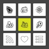 Crypto , currency , money , coin , chip , key ,axe , menu , hear. T , wifi ,icon, vector, design, flat, collection, style, creative, icons - This Vector EPS 10 stock illustration
