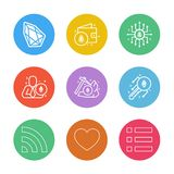Crypto , currency , money , coin , chip , key ,axe , menu , hear. T , wifi ,icon, vector, design, flat, collection, style, creative, icons - This Vector EPS 10 royalty free illustration