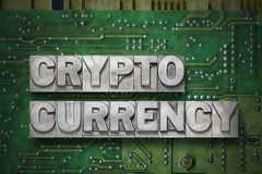 Crypto currency - pc board Royalty Free Stock Image