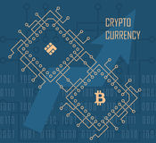 Crypto currency vector background Stock Image
