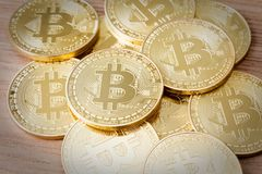 Crypto devise de Bitcoins Photo libre de droits