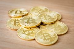 Crypto devise de Bitcoins Images stock