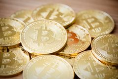 Crypto devise de Bitcoins Photos stock