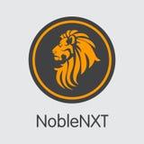 Crypto devise de Noblenxt Image de pièce de monnaie du vecteur NOXT Photo libre de droits