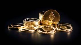Crypto Ethereum νόμισμα Στοκ Φωτογραφίες