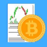 Crypto exchange business flat. Money finance exchange, bitcoin market. Vector illustration Stock Photography