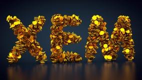 Crypto för valuta symbol NEM Arkivbilder