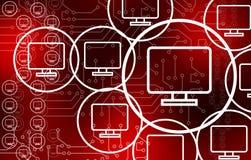 Crypto Hi-Tech Abstract Background. Crypto technology abstract background Hi-Tech Computers concept royalty free illustration