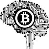 Crypto illustration för Bitcoin BTC flaggatorkduk royaltyfri illustrationer