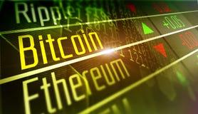 Crypto marché de changes de Bitcoin illustration libre de droits