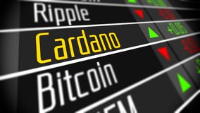 Crypto marché de changes de Cardano illustration stock