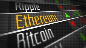 Crypto marché de changes d'Ethereum illustration stock